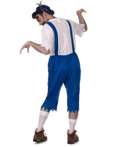 Costume bavarese zombie blu da uomo-2