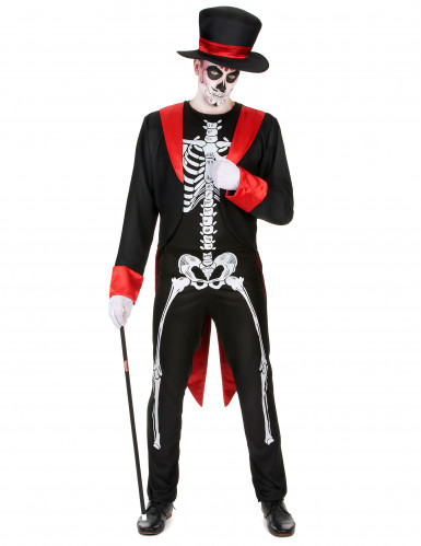 Costume da scheletro chic per uomo