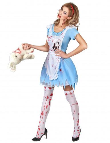 Costume da Alice insanguinata per donna-1