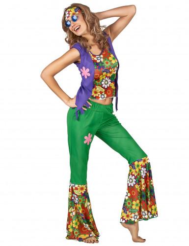 Costume Hippie flower Power donna