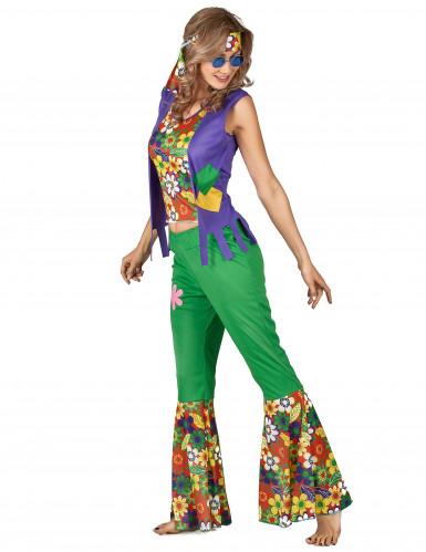 Costume Hippie flower Power donna-1