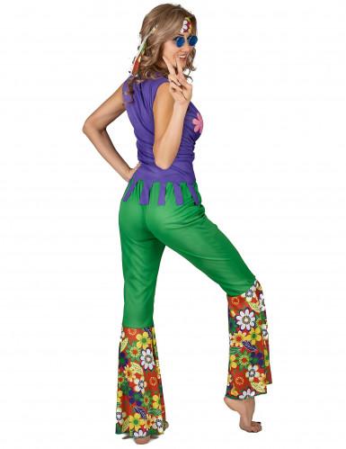 Costume Hippie flower Power donna-2