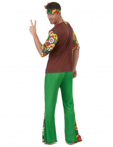 Costume da hippie flower power per uomo-2