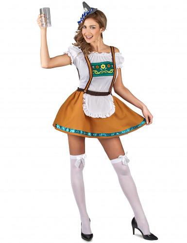 Costume bavarese marrone per donna