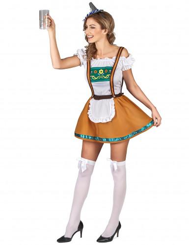 Costume bavarese marrone per donna-1