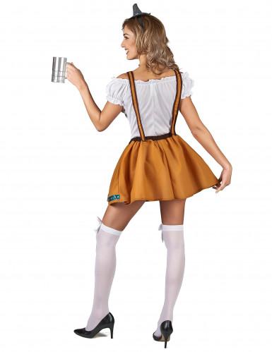 Costume bavarese marrone per donna-2