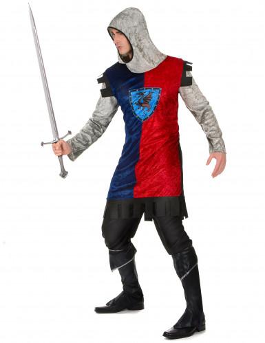 Costume da cavaliere medievale dragone per uomo-1