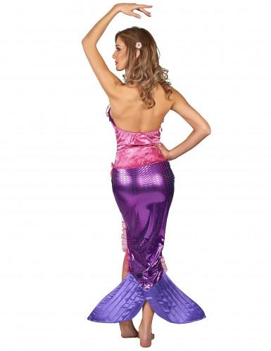 Costume da sirena rosa per donna-2