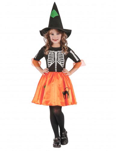 Costume da streghetta scheletro bambina