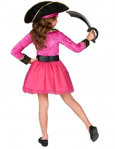 Costume pirata bambina rosa e oro-2