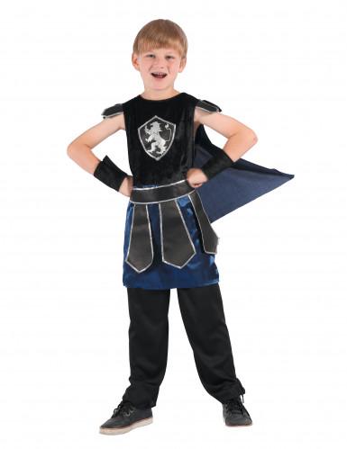 Costume da cavaliere  blu e nero per bambino