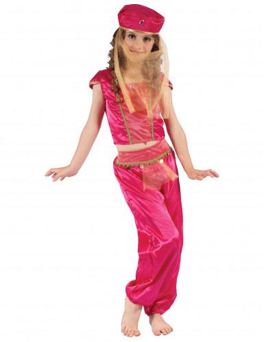 Costume da odalisca rosa oro per bambina