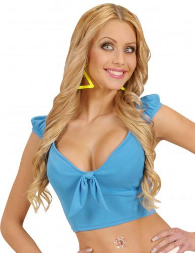 Top con nodo turchese sexy per donna