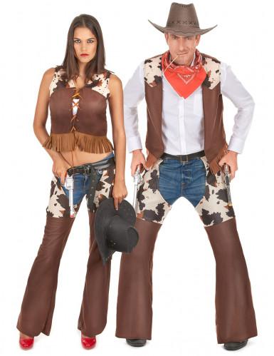 personalizzate sconto miglior fornitore Costume di coppia da cowboy