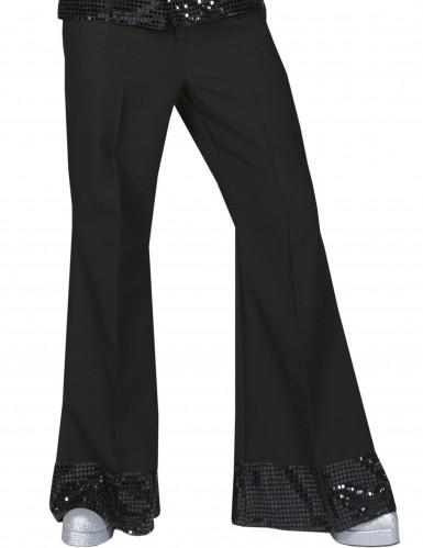 Pantalone Disco nero con paillettes uomo