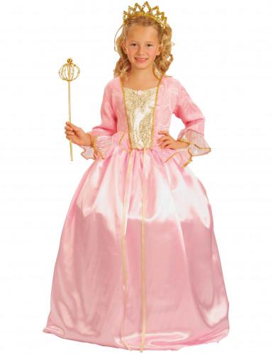 Costume da Principessa rosa lusso bambina