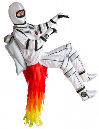 Costume adulto astronauta con coda a reattore