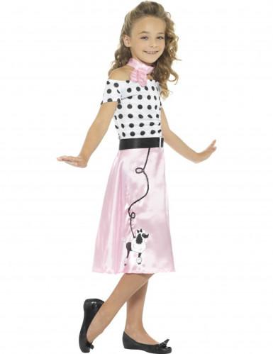 Costume Miss Girly Anni'50 per bambina-2