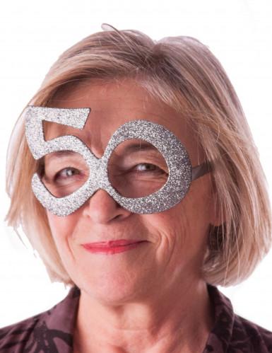 Occhiali argentati 50 anni