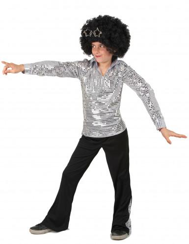 Costume disco argento per bambino-1