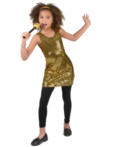 Costume disco dorato per bambina-1