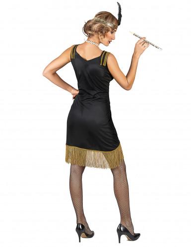 Costume Charleston nero e oro a frange donna-2