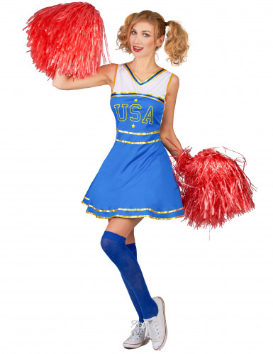 Costume cheerleader USA donna