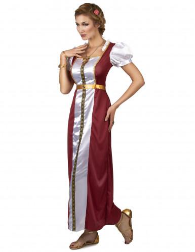 Costume da dama medievale Ginevra per donna-1