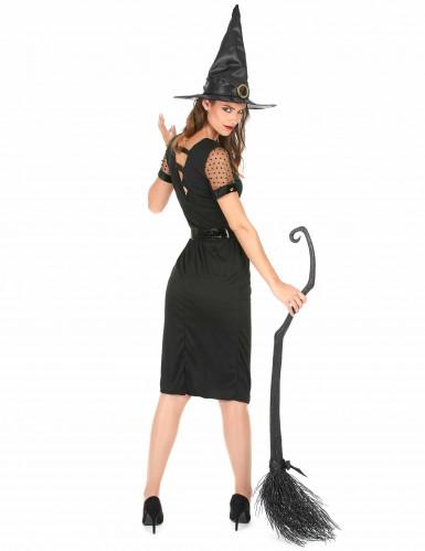 Costume da strega sexy nera Halloween donna-2