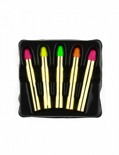 5 matite trucco fluo