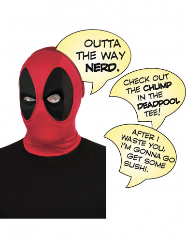 Passamontagna Deadpool™ adulto lusso con fumetti
