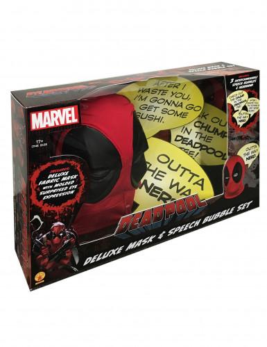 Passamontagna Deadpool™ adulto lusso con fumetti-1
