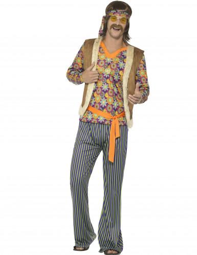 wholesale dealer 81cea 04760 Costume da cantante hippie anni 60 per uomo
