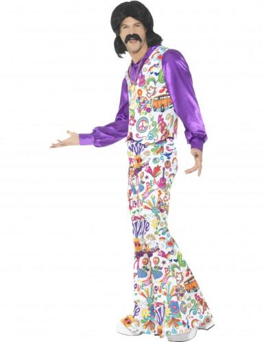 Costume da hippie con gilet per uomo-1