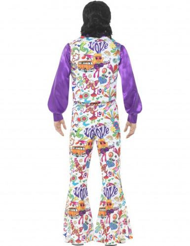 Costume da hippie con gilet per uomo-2