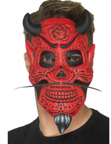 Maschera da gentiluomo demoniaco adulto dia de los muertos