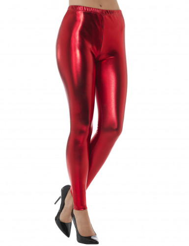 Legging metallizzato rosso per adulto