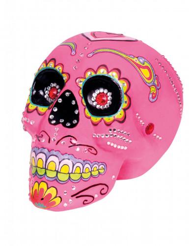 Decorazione teschio rosa Dia de los Muertos