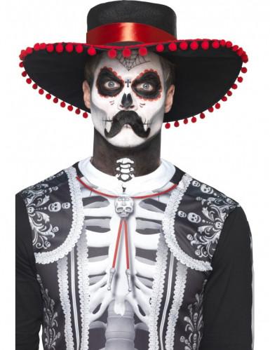 Kit trucco scheletro messicano Dia de los Muertos