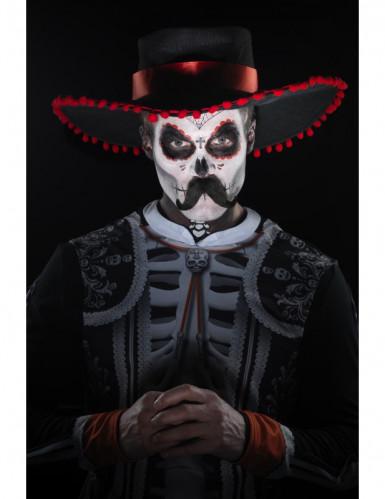 Kit trucco scheletro messicano Dia de los Muertos-3