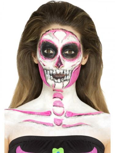 Trucco in lattice scheletro fosforescente Halloween