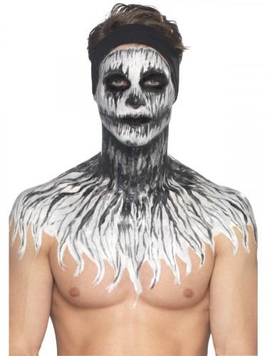 Trucco in lattice scheletro fosforescente Halloween-1