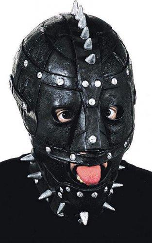 Maschera SM con chiodi argentati