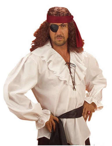 Camicia da pirata bianca per uomo