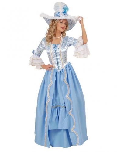 Costume Barocco celeste e bianco per donna