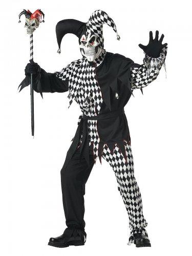 Costume giullare malefico halloween uomo