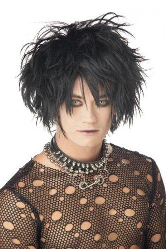 Parrucca nera gotica per adulto