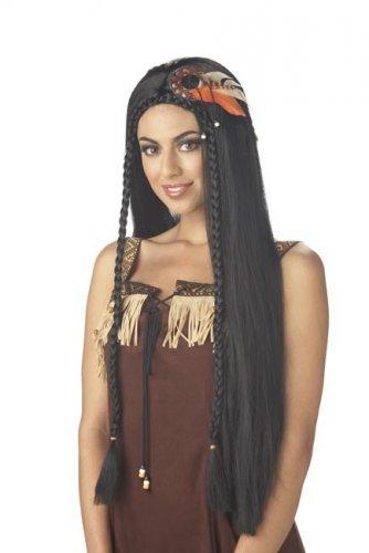Parrucca indiana capelli lunghi neri