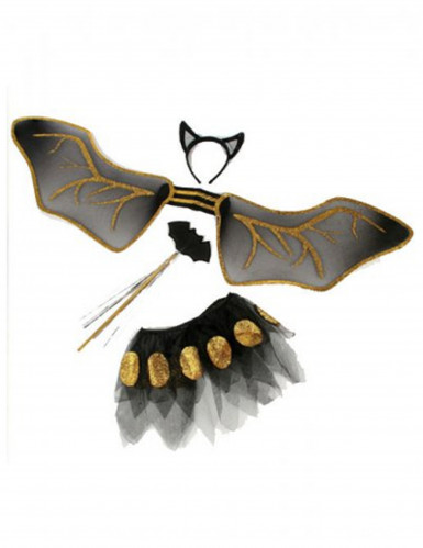 Kit Pipistrello nero e oro bambina-1
