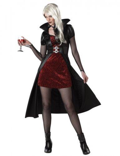 Costume rosso da vampiro per donna halloween